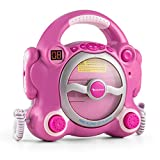 Auna Pocket Rocker - Kit Karaoke , 2 dinamici microfoni , Altoparlante Stereo , programmabile ,...