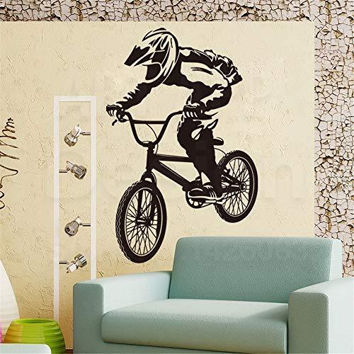 Woorden Woorden Verwijderbare Lettering Art House Decor Fiets Sport Muurstickers Home Decoratie Kleurrijke Fiets Atleet Sticker 12x18 inches