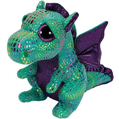 Carletto Ty Cinder Dragon TY 37052 Drache mit Glitzeraugen, Mehrfarbig
