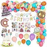 Gafild Decoraciones Cumpleaños de Fiesta Candyland, Rosa Feliz cumpleaños Estandarte Car...