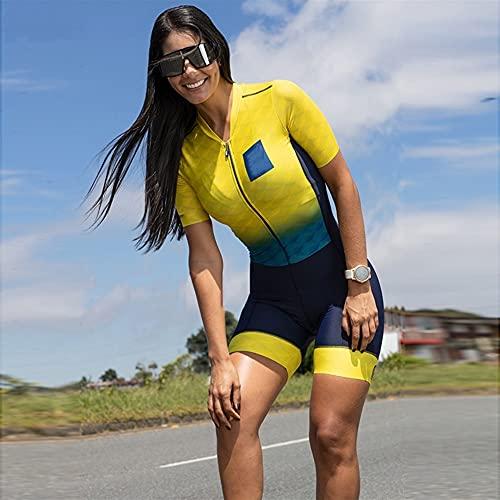 Triatlón Camiseta de ciclismo para mujer Jersey de manga corta Jersey Jersey Jumpsuit Sportswear Triathlon Medias (Color : 13, Size : 5XL)