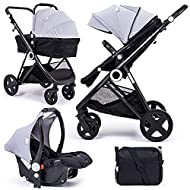 For Your Little One Million Dreams 3 in 1 Travel System, Group 0 Car Seat + Carrycot, Mattress from ...