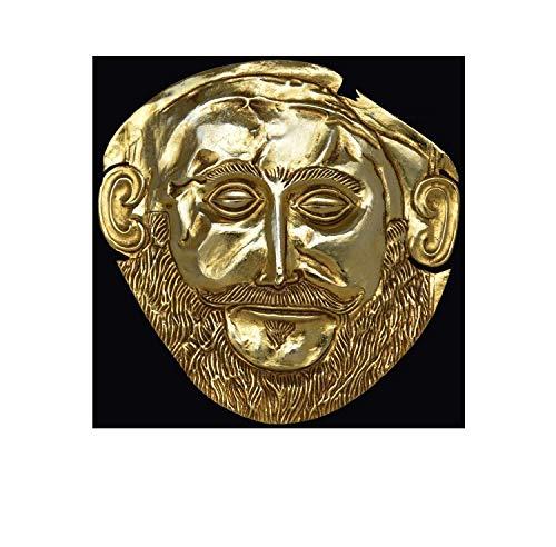 Estia Creations Maske von Agamemnon vergoldete Skulptur – Beerdigungsmaske aus Myzinäischem König