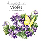 Rosa blanca estratosferica 'de mariposas y flores de' bolsita perfumada para Armario - Violet