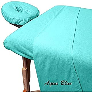 600 Thread-Count 3-Piece Massage Table Spa Sheet Set (1Pc Fitted Sheet Fit up to 7