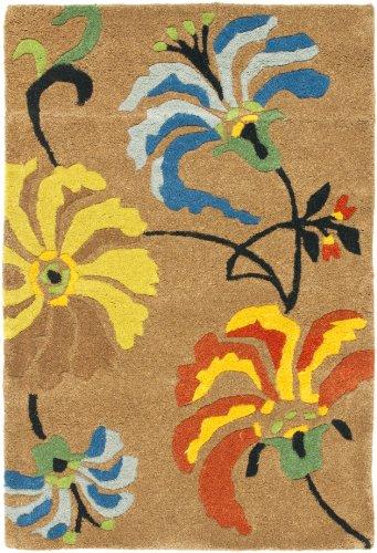 Safavieh Soho Collection SOH740A - Alfombra Hecha a Mano de Lana y Viscosa (2 x 3 m), Color marrón y Multicolor
