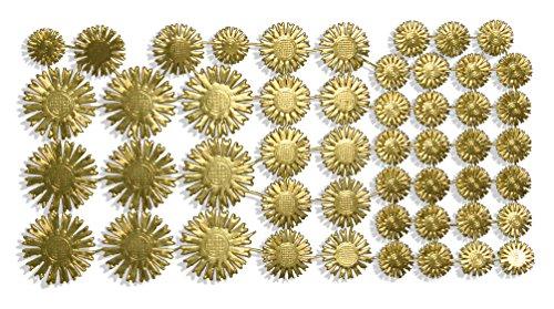 Walter Kunze GmbH Heiligenschein Sortiment, 3 Größen, Gold, 50 Stück auf Blatt, aus geprägtem Papier