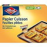 Albal 16 Feuilles Papier Cuisson Brun, Feuilles Pliées, Anti-Adhérent, Démoulage...