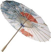Blau//Rosa Papierschirme . Regenschirm aus ge/öltem Papier Winddichte chinesische Kunst Klassischer Tanz Orientalischer mit Bambusgriff f/ür asiatische Themendekoration Tanzen Hochzeit