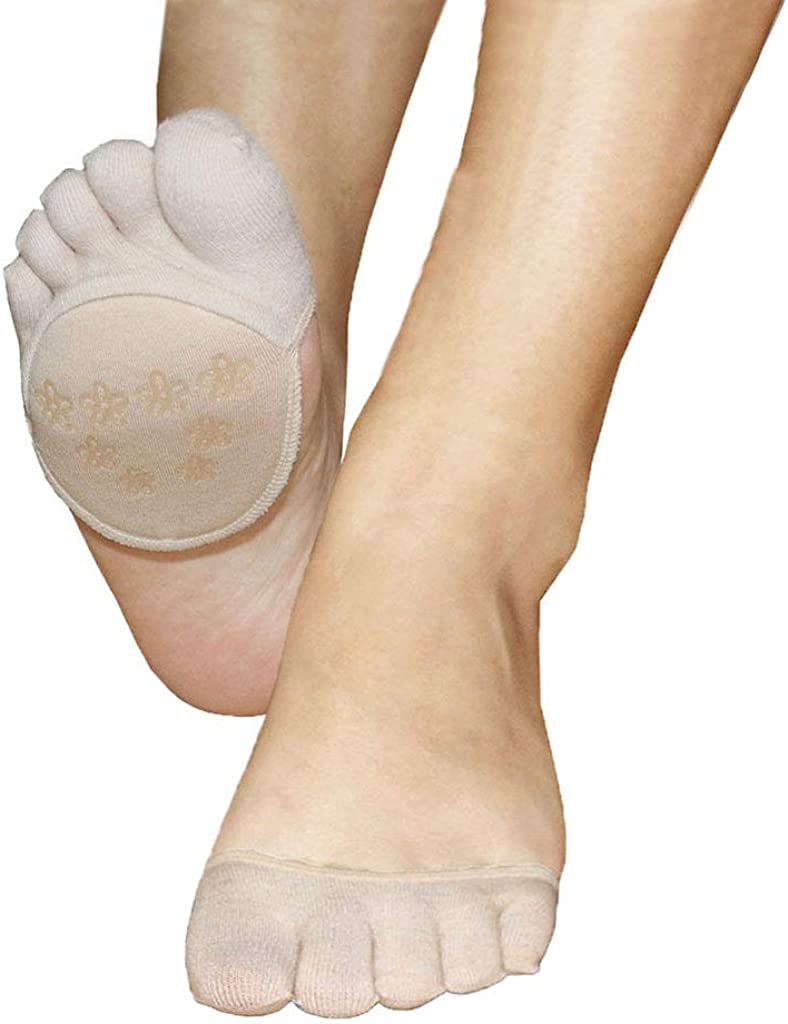 Toe Socks No Show for Women,Hidden Ball of Foot Liner Covers Not-skid for High Heels Flats Boots,Relief Pain Blister