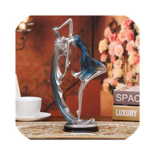 WZCN Official Store Europe Dancing Girl Figurines Resin Crafts Beauty Dance Lady Statues Sculpture Ornaments Home Decoration Creative Couple Gifts,1