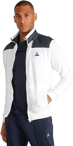 Le Coq Sportif 1910416 Sweat-Shirt Homme Blanc L