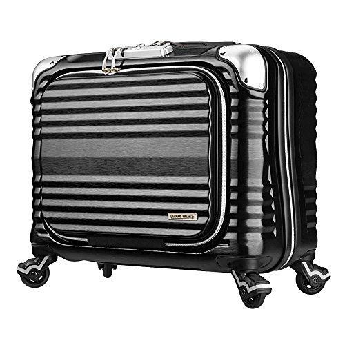 LEGEND WALKER PREMIUM GRAND BLADE ブレイド ビジネスキャリー スーツケース ハードケース フロントオープン 4輪 TSAロック 34L 機内持込可 6606-44 (ブラック)