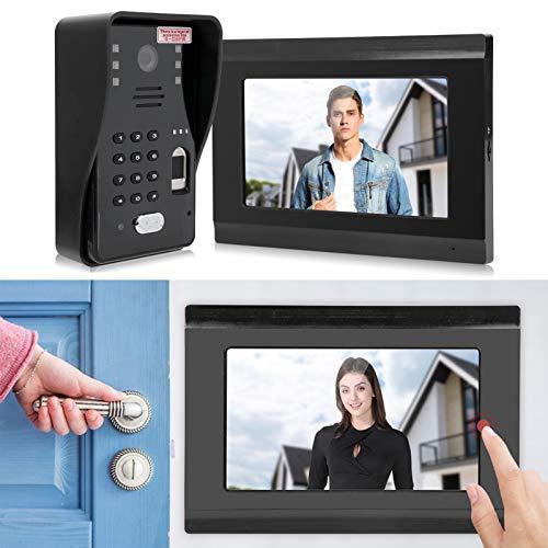 Video Doorbell 500 Fingerprints Tarjeta TF de 32G para IOS/para sistema Android(Transl)