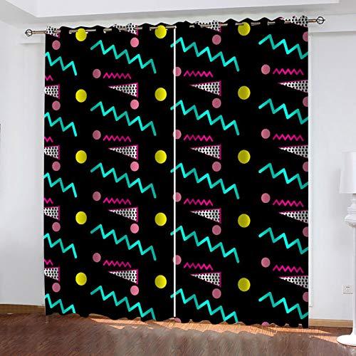 Cortinas Decorativas Personalizadas De Estilo Europeo 3D Adecuado para Dormitorio, Balcón, Cortina De Jardín Método De Instalación De Orificio 1 Par