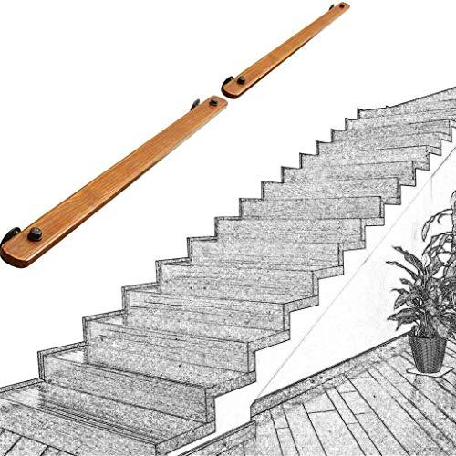 YANGSANJIN Barandilla de la Escalera barandilla pasamanos, Antideslizante de Madera sólida Escalera Baranda, contra la Pared Interior Loft Ancianos Pasamanos Pasamanos Corredor Barra Soporte,