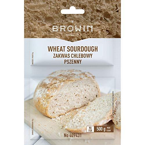 Browin 409431 Zakwas chlebowy orkiszowy z drożdżami - 19 g, do wypieku domowego chleba