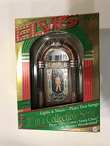 Elvis Presley - Jukebox 1997 Lights & Musical Carlton Cards Christmas Ornament by Carlton Cards