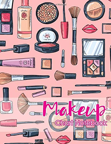 Makeup Chart Notebook: Face Record Makeup Charts With Dots Notes For Client/ Student