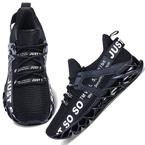 Wonesion Damen Laufschuhe Sportschuhe Straßenlaufschuhe Sneaker Damen Tennisschuhe Fitness Schuhe 41 EU 1 Schwarz