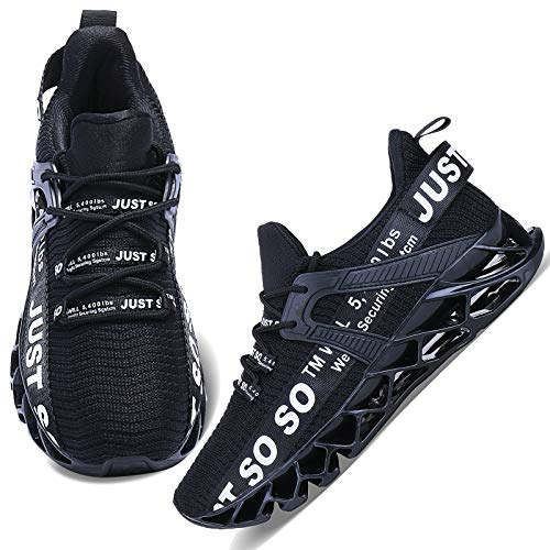 Wonesion Damen Laufschuhe Sportschuhe Straßenlaufschuhe Sneaker Damen Tennisschuhe Fitness Schuhe 38 EU 1 Schwarz