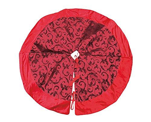 zeitzone Weihnachtsbaumdecke Barock Rot Christbaum-Unterlage Weihnachten Ø 84cm