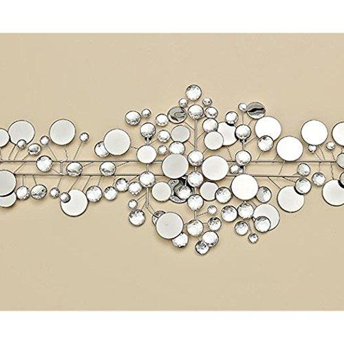 Boltze Wanddeko 95 x 43 cm Ruben, Metall, silber