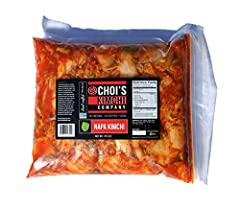 A Half Gallon (3.5 lbs.) Re-sealable Pouch of our Award Winning Spicy Napa Cabbage Kimchi Vegan, Gluten-Free, Non-GMO Project Verified, No Preservatives, Probiotic, Traditional Small Batch Korean Kimchi Made and Shipped from our home in Portland, Ore...
