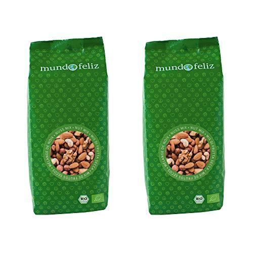 Mundo Feliz - Cóctel de frutos secos ecológicos, 2 bolsas de 500g