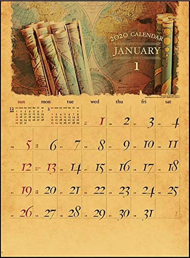 スロープ毛布自転車カレンダー 2020年 アンティーク(ANTIQUE) IC-703,ふつうサイズ,おしゃれ,アンティーク,レトロ