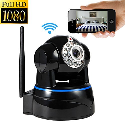 Roll Over Image to Zoom in B-Bonnie Wireless Camera, 1080p WiFi Security Camera (Black)