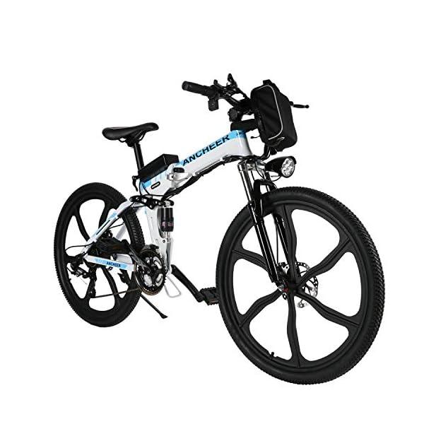 51vMzeDnenL. SS600  - ANCHEER Faltbares E-Bike Elektrofahrrad mit 250W Motor, 26 Zoll Mountainbike Klapprad Pedelec 36V 8AH Lithium Akku 21-Gang Getriebe 20 Meilen