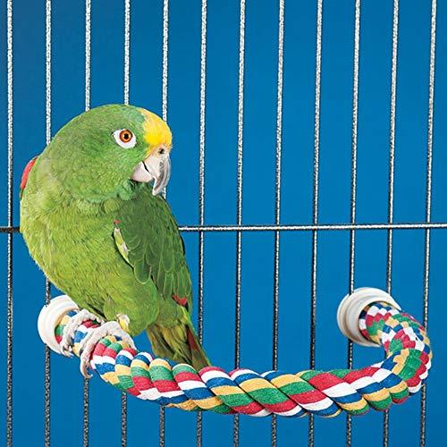 JW Pet Comfy Perch For Birds Flexible Multi-color Rope