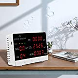 TTLIFE Air Quality Monitor Indoor Air Pollution Meter Micro-dust Detector Formaldehyde Analyzer Temperature Humidity Sensor for CO2 TVOC AQI Temp and Hum Display