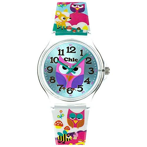 Teenie-Weenie Chic Watches UC031 - Orologio da polso da donna, cinturino in plastica multicolore