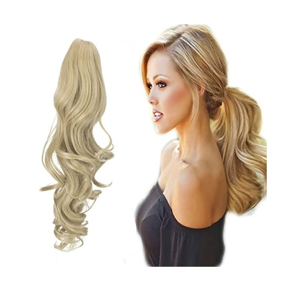 Beauty Shopping FUT Womens Claw Ponytail Clip in Hair Extensions 21 inches Long Straight Hairpiece