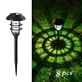 GIGALUMI 8 Pcs Solar Lights Outdoor Pathway, Waterproof Led Solar Lights for Lawn,Patio,Yard,Garden,Path,Walkway or Driveway.