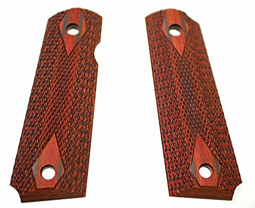 M1911 木製グリップ コルトガバメント (2.チェッカーブラウン)