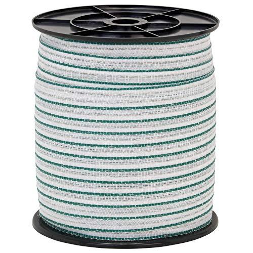 Hochwertig Weidezaun Band 200m, 20mm, 2×0,3 Kupfer + 4×0,3 Niro, weiß-grün 4 - 2