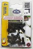 S&M 540189 Codo para microtubo de riego 4 mm-Blíster de 10 Unidades, Negro