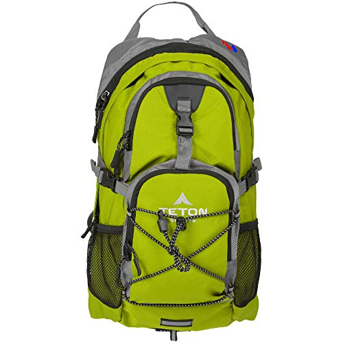 TETON Sports Oasis 1100 Hydration Pack; Free 2-Liter Hydration Bladder; For Backpacking, Hiking, Running, Cycling, and Climbing; Bright Green