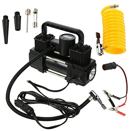 VICASKY Compresor de Aire Inflador de Neumáticos de Coche Portátil Bomba de Aire Eléctrica para Neumáticos de Coche Bicicleta Y Otros Inflables