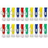 JZK 20 x Mini linternas llavero colorido lámparas bolsillos llavero, llaveros con luz para regalos comunión navidad detalles invitados cumpleaños para niños
