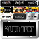 Coanvin Personalized Front License Plates, Custom License Plate for Front Car,Personalized License Plates for Front of Car with Your Photo,Add Logo Text - Car Tags - 6' x 12' - Aluminum License Plate