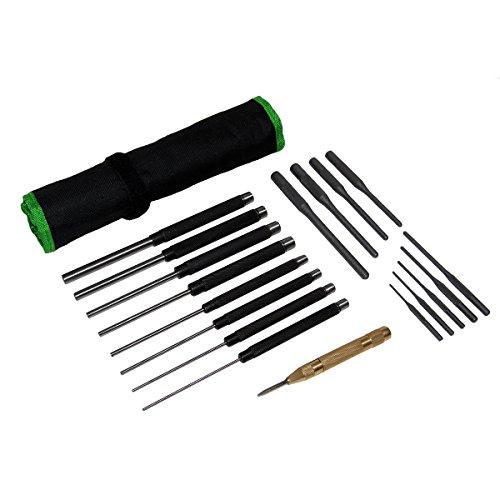Grip 18 pc Heavy Duty Roll Pin Punch Gunsmithing Set