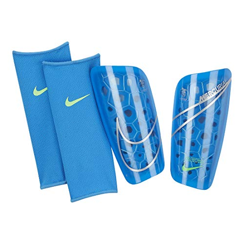 Nike NK Merc LT GRD Schienbeinschoner, Photo Blue/Rage Green/(Silber), M Unisex-Erwachsene