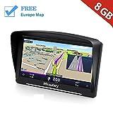 Mksutary Rechargeable GPS Navigation Monde pour Voiture 8Go, Ecran 7 pouces Tactile...