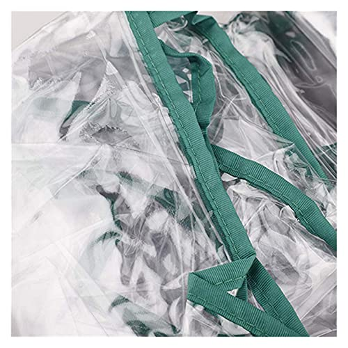 Al Aire Libre 2 Capas Mini Paseo en Invernadero Portátil Plastic Plástico Planta Insulso Invernadero Cubierta de Invernadero No Incluir Estante (Color : Transparent, Size : 143x73x195cm)