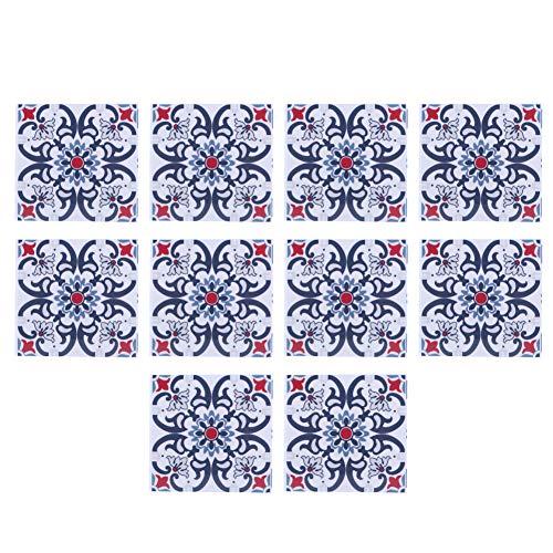 SanZHONGsd 10 pegatinas para azulejos de cocina y baño para chimenea, pared, 10 x 10 cm, cuadradas, para transferencias de azulejos