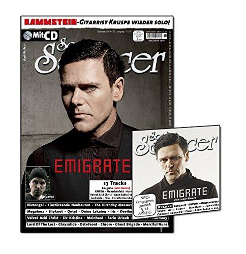 u.v.m.: Sonic Seducer 11-2014 mit Emigrate-Titelstory + CD mit exkl. Vorab-Remix vom Album Silent So Long + 16 weitere Tracks, Bands: Blutengel, KMFDM, Megaherz u.v.m. (Audio CD)